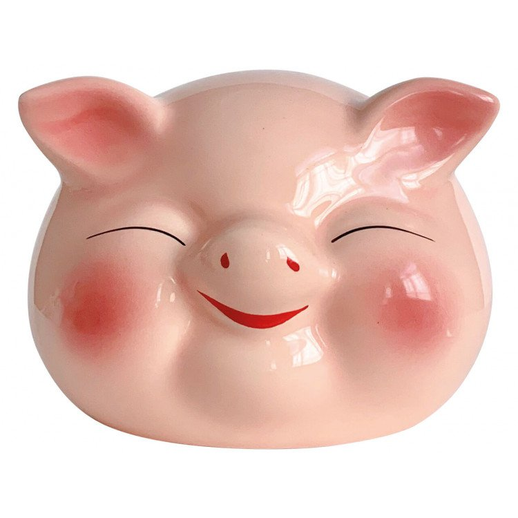 Ceramic Lucky Pig orange
