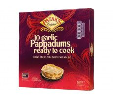 Garlic Pappadums 100 GR (10 pieces)