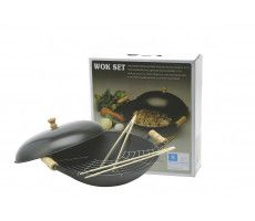 Cast-Iron Wok (35 cm, wooden handle) 4750 GR