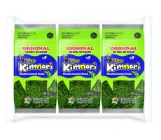 Snacks Seaweed roasted original KIMNORI pk 3x4g