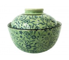 Soup bowl with cover blue
