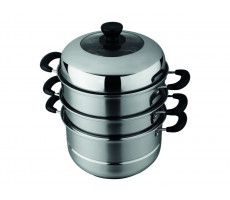 Steamer 28 cm 3 layer stainless steel