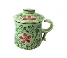 Tea mug with strainer multicolour